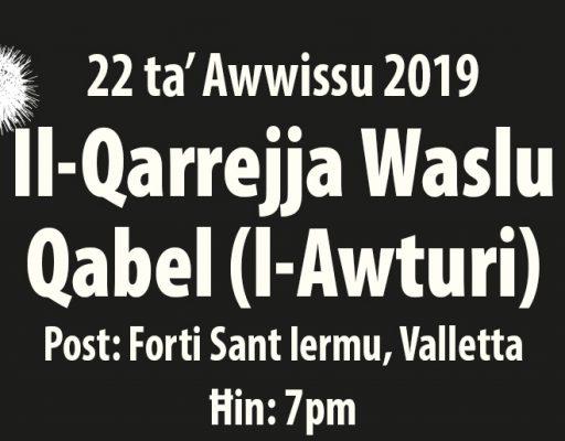 MMLF2019 - 22 Aug - Il-Qarrejja Event
